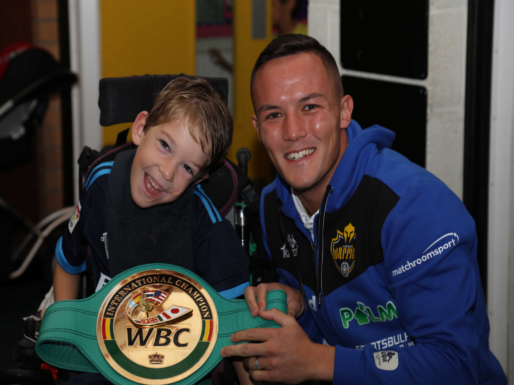 Josh Warrington is introduced as new Snaps Patron