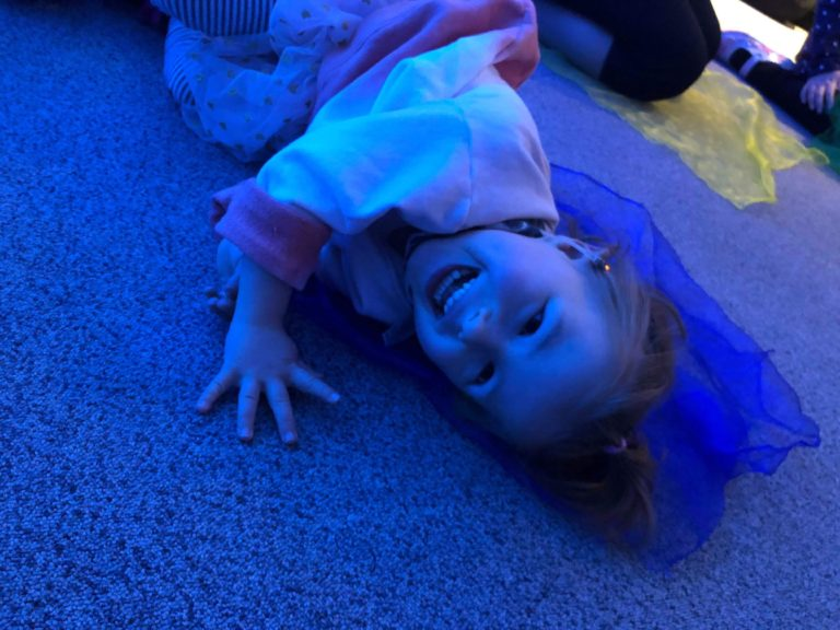 Child in sensory room at SNAPS