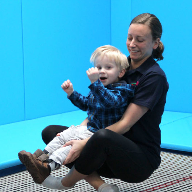 Rebound Therapy with young child